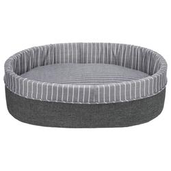 Trixie Bett Finley rund grau/weiß, Maße: 45 x 35 cm