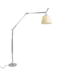 Aluminium Stehlampe mit Lampenschirm - Artemide Tolomeo Mega Terra