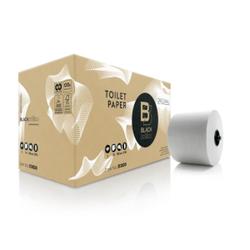 BlackSatino Original Systemtoilettenrollen, 2-lagig, CO2-neutrales Toilettenpapier aus recyceltem Material, 1 Karton = 24 Rollen à 100 m