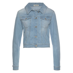 Please Jeans Jeansjacke V 491 im Used-Look L/42
