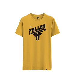 Tshirt FALLEN - Hi Volt Tee Mustard (MUSTARD) Größe: XL