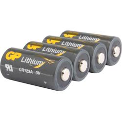 GP Batteries CR123A Batterie GP Lithium 4 Stück Batterie, (3 V)
