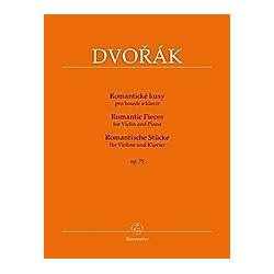 Romantische Stücke (Romantické kusy) op. 75 für Violine und Klavier. Antonín Dvorák  - Buch