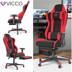 VICCO Gamingstuhl ALPHA schwarz rot Bürostuhl Schreibtischstuhl Drehstuhl Sport