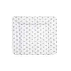 Alvi Wickelauflage Stars in grau/weiß
