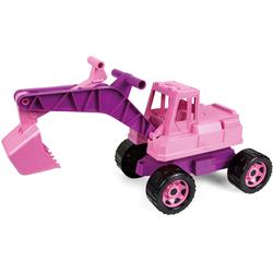 Lena Spielzeug-Aufsitzbagger Giga Trucks, rosa, Made in Europe rosa Kinder Sandkiste Sandspielzeug Outdoor-Spielzeug
