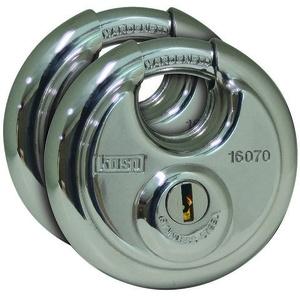 KASP K16070D2 Vorhängeschloss gleichschließend Silber Schlüsselschloss