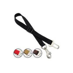 Monkimau Hundeleine Sicherheitsgurt für Hunde Hundegurt Anschnallgurt, Nylon rot L