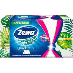 Zewa Küchenpapier Einzeltücher WISCH&WEG Quick Pack 2-lagig 75 Tücher