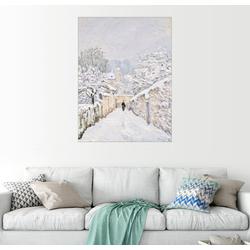 Posterlounge Wandbild, Schnee in Louveciennes 50 cm x 70 cm