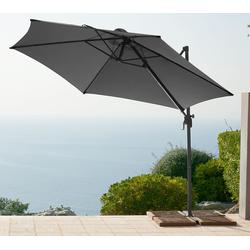 garten gut Ampelschirm Palermo, ohne Wegeplatten grau