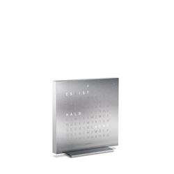 Tischuhr Qlocktwo Touch, Designer Biegert & Funk, 13.5x13.5x1.8 cm