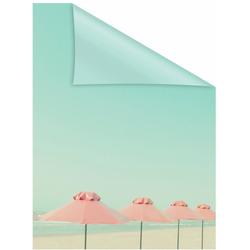 Fensterfolie Sonnenschirme, LICHTBLICK, blickdicht, strukturiert, selbstklebend, Sichtschutz 100 cm x 130 cm