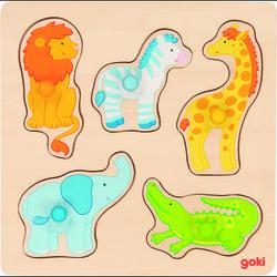 goki Steckpuzzle Auf Safari