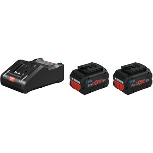 Bosch Blau Professional ProCORE Akku Starter-Set 2 x 18 V 8 Ah + GAL 18V-160 C - 1600A016GP