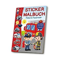 Sticker-Malbuch - Polizei & Feuerwehr - Buch