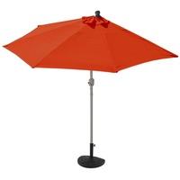 MCW Sonnenschirm Lorca-270, LxB: 260x135 cm, Optional mit Schirmständer, witterungsfest, Platzsparend zusammenfaltbar orange