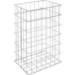 Wagner EWAR Gitterkorb, 72 Liter, Papierkorb für Bodenaufstellung und Wandmontage geeignet, WP 150, verchromte Optik