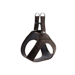 Hunter Hunde-Geschirr Hilo, Leder braun XXS - 30 cm - 34 cm
