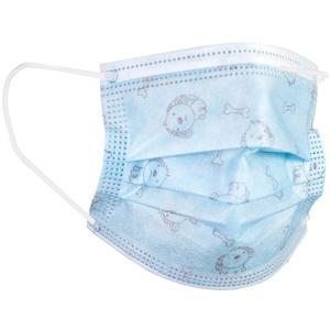 axentia 133247 Einwegmasken Mund Nasenmaske Kinder, Blau, 10 Stück (1er Pack)