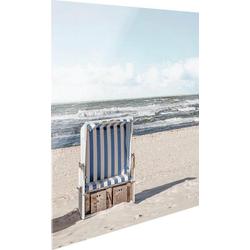 Glasbild Strandkorb