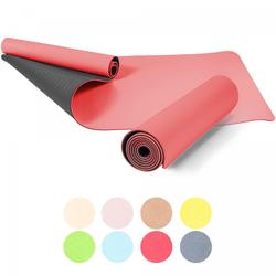 Yogamatte schwarz/rot