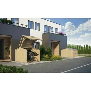 Bikebox abschließbar 2x1,5 m Schuppen Fahrradgarage Fahrradschuppen Holzhaus Neu