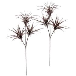 Kunstpflanze Tillandsia, I.GE.A., Höhe 63 cm, 2er Set rosa