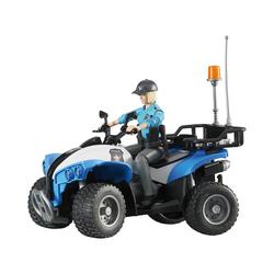 Bruder® Spielzeug-Auto BRUDER 63010 bworld Polizei Quad mit Figur und