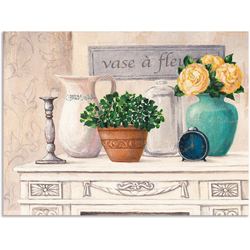 Artland Wandbild Vasen mit Blumen, Vasen & Töpfe (1 Stück) 120 cm x 90 cm