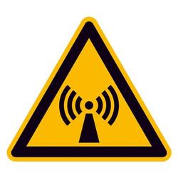 Warnschild Nicht ionisierende Strahlung Aluminium 100mm ISO 7010 1St.