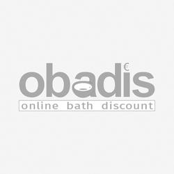 Hoesch Ergo+ Freisteh-Badewanne 6444.010305551 207,5x195cm, weiß/verchromt, Wannenverkleidung Glas silber