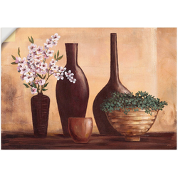 Artland Wandbild Stillleben in Beige II, Vasen & Töpfe (1 Stück) 100 cm x 70 cm