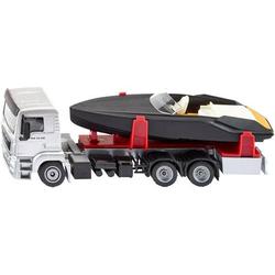 SIKU Spielwaren MAN LKW mit Motorboot 2715