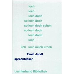sprechblasen als Buch von Ernst Jandl