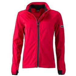 Funktionelle Damen Softshell Jacke | James & Nicholson light-red XXL