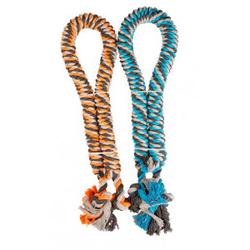 Gedraaid katoenen touw met knopen  120 cm, diam. 4,4 cm