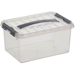 sunware Q-line Aufbewahrungsbox 6,0 l transparent 30,0 x 20,0 x 14,0 cm