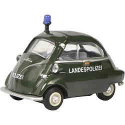 Schuco BMW Isetta Landespolizei 1:64 Modellauto