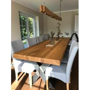 Tischplatte Küchenarbeitsplatte Waschtischplatte Eiche massiv, geölt, Baumkante