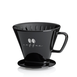 Kaffeefilter S Excelsa Porzellan schwarz 10,5cm 12,0cmØ
