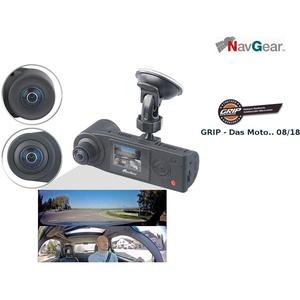 NavGear Auto Kamera 360: Full-HD-Dashcam mit 2 Kameras für 360°-Panorama-Sicht, G-Sensor (Dashcam 360 Grad)