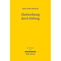 Marktordnung durch Haftung als Buch von Jens-Uwe Franck