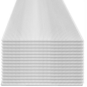 Rotfuchs® Hohlkammerplatten 15 Stück Set | 4mm Stegplatten | Polycarbonat (PC) | Ersatzteile für Gewächshaus | Doppelseitig UV-Beschichtet | 700g/m2 | 1210 x 605 mm | 10,98 m2