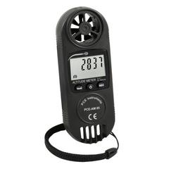 Luftstrom-Messgerät PCE-AM 85 | m/s, km/h, Knoten | Höhenmesser und Windmesser