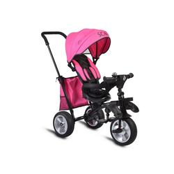 Byox Dreirad Dreirad Tricycle Scar, Dreirad klappbar Gummireifen Sitz drehbar Tasche Schiebegriff rosa
