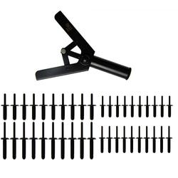 BGS 8463 Zange für Kunststoffnieten Nietzange Nietwerkzeug + 40 Nieten