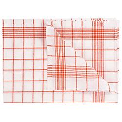 Geschirrtücher Rot Waschmaschinenfest 6 Stück 50 x 72cm