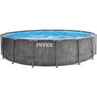 Intex Prism Frame Greywood Pool-Komplettset (26744GN), 549x122cm, inkl. Filterpumpe 5678 l/h