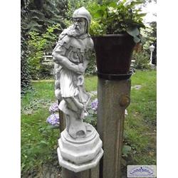 BAD-459 Gartenfigur Schachfigur Bauer Skulptur Steinfigur Bogenschütze Figur 80cm (Farbe: ockergrün)